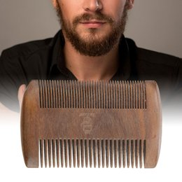 TemplaTe Tools online shopping - Hot Sale Sandalwood Mustache Anti Static Shaper Styling Comb Tools Beard Shaping Comb Hair Beard Trim Template Combs