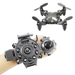 $enCountryForm.capitalKeyWord Australia - Watch Control RC Drone Foldable Quadcopter Altitude Hold G-Sensor Control Headless Mode One Key Return High Medium Low Speed Toy