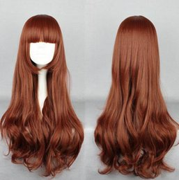 Lolita Curly Wigs Australia - New Fashion Lolita Chocolate Long Curly Cosplay Anime Hair Full Wigsfree wig cap