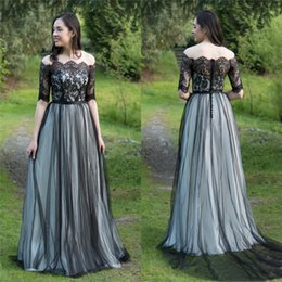 $enCountryForm.capitalKeyWord UK - Country 2019 Evening Dresses Off Shoulder with Half Sleeves Tulle Buttons Back Prom Reception dress Party Gown