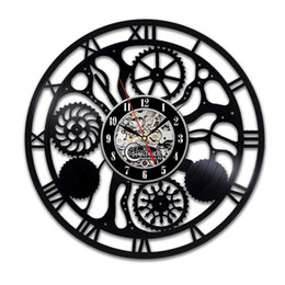 $enCountryForm.capitalKeyWord Australia - Gear New 12 inch Vinyl Record Wall Clock Round Black Wall Clock Creative Clock Modern Home Decor Simple Living Room Decoration Best Gift