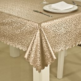Waterproof floWer cover online shopping - Luxury Waterproof Anti hot Oil Table Cloth Jacquard Printed Flower Table Cover Rectangular Round Table Cloth Home Party Decoration