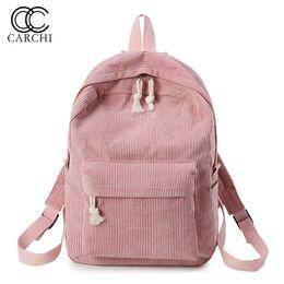 Cute Dresses For School UK - CARCHI New Women Backpack Fashion School Bag For Teenage Girls Cute Student Backpacks Velour Casual Ladies Schoolbag mochila