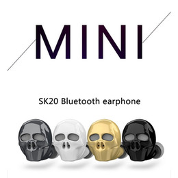 $enCountryForm.capitalKeyWord Australia - SK20 Skull Mini Stereo Bluetooth Headphones wireless V4.1 Bluetooth Handsfree earphone Connect with 2 phones for iphone Samsung