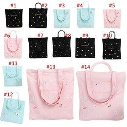 $enCountryForm.capitalKeyWord Australia - Universe And Flower Embroidered Canvas Handbag Mummy Fresh Style Cotton Shopping Tote Bag Gift For Women Fab Women Bag