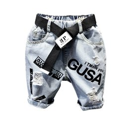 $enCountryForm.capitalKeyWord Canada - boys shorts kids shorts kids designer clothes boys jeans Summer hole loose boys Harem Pants Cross-pants Boy Clothing boy clothes A5901