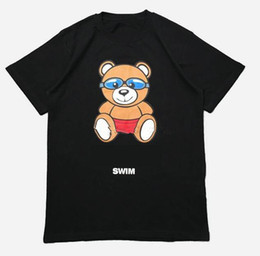 Black Swimming Toys UK - Summer Designer brand Mens Tshirt Luxury clothing Fashion swim Bear toy Letter Print T Shirt Casual cotton women T-shirt cotton Tops tee