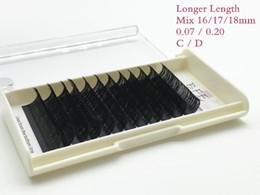 Eyelash Tray Mix Australia - Eyelashes longest length (mix 16 17 18mm) in one tray high quality synthetic mink natural False eye individual eyelash extension