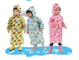 $enCountryForm.capitalKeyWord Australia - S-L Cartoon Kids Raincoat Evironment Waterproof Trench Raincoat Baby Girl and Boy Lovely Rain Suit 2015 Fashion Poncho