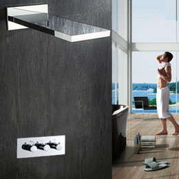 $enCountryForm.capitalKeyWord NZ - Hot Sale Concealed Shower Set Accessories Wall Mounted Square Faucet Panel Hot Cold Mixer Shower Head Rain Waterfall