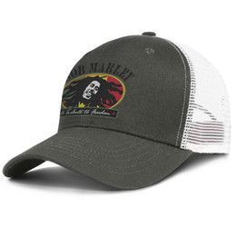 $enCountryForm.capitalKeyWord Australia - Popular Mesh Trucker cap Men Women-Bob Marley a trilute to freedom symbol designer cap snapback Adjustable Sun hats Outdoor