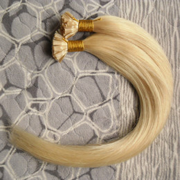 "wholesale fusion human hair extensions Australia - Hot sales #613 Bleach Blonde Virgin Brazilian Straight Human Hair Cheap Italian keratin fusion Nail Glue U TIP Remy Hair Extensions 24"" 26"""
