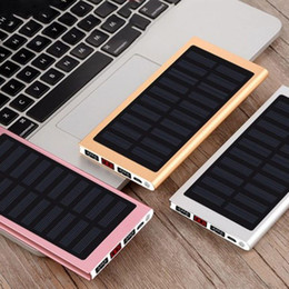solar external battery power bank NZ - solar Power Bank External Battery 2 USB LED Powerbank Portable Mobile phone Solar Charger for Xiaomi mi iphone XS 8plus