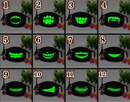 $enCountryForm.capitalKeyWord UK - Black Luminous Mouth Mask Light in the dark Anti dust keep warm Cool Unisex Mask Black Teeth Glow Cotton Face Mask