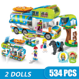 $enCountryForm.capitalKeyWord Australia - 546PCS Small Building Blocks Toys Compatible with Legoe Mia's Camper Van Trailer Toys for girls boys children gift DIY