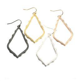 China Kendra Style Scott Hollow Waterdrop Frame Earrings Fashion Dangle Earrings for Women Party Gift suppliers
