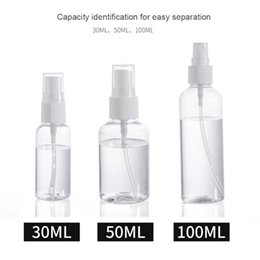 Wholesale 30 50 100ml Refillable Bottles Travel Transparent Plastic Perfume Bottle Atomizer Empty Small Spray Bottle toxic free and safe