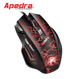 $enCountryForm.capitalKeyWord Australia - Wired Mouse 3200 DPI 7 Buttons Cool Black USB Colorful LED Light High Quality Mice Optical Gaming Mouse For PC Pro Gamer L0131
