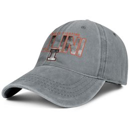 $enCountryForm.capitalKeyWord Australia - Womens Mens Washed Cap Hat Plain Adjustable Illinois Fighting Illini Basketball Core Smoke logo Rock Punk Cotton Cricket Hat Golf Military C