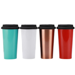 mug seal lids UK - Customized Stainless Steel Tumbler Double Wall Insulated Travel Mug Coffee Mug Sealed for hot and cold drinks