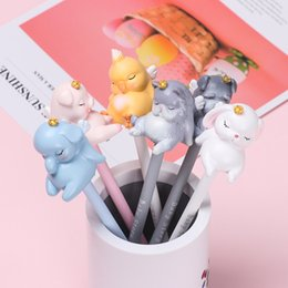 kawaii pens NZ - 1 PC Kawaii Silicone Gel Pens Creative Cat Neutral Pens 0.5mm Pink Cute Writing Tool Stationery School Office Supplies