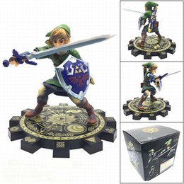 figma figures Canada - Action Zelda Figure Link Sword Anime Toys Model Doll Zelda Sword Figurine Collectible Juguetes Brinquedos PVC Collector Figma T200704