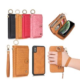 6fd9542299f POLA For iphone 6 6s 7 8 plus X Xs MAX XR Case Luxury Woven pattern zipper  Business Leather Magnetic Wallet Case Split Cover