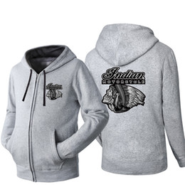$enCountryForm.capitalKeyWord Australia - Indian Motorcycle Hip Hop Hooded Cardigan for Men Zipper Comfy Spring Autumn Hoodies Long Sleeve Sweatshirts Male Jackets Streetwear