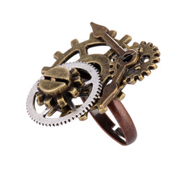 $enCountryForm.capitalKeyWord Australia - Steampunk Gear Open Ring Metal Women Vintage Gear Finger Ring for Party Gift Diy Jewelry Accessories