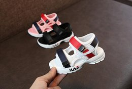 Red baby sandals online shopping - New Design Kids Shoes Toddler Summer Sandal Children Sneakers Soft breathable Comfortable Baby Boys Girls Kid Beach Shoes