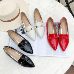 $enCountryForm.capitalKeyWord Australia - Hot Sale-Top Quality Sequins Heels Red Black White Office Dress Shoes Genuine Leather Women Loafers Shoes Casual Shoes 2019 New Arrival
