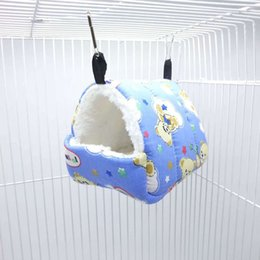 hamster beds UK - Portable Pet Rat Hamster Hammock Hanging Bed Small Animal Warm House Cage