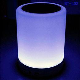 $enCountryForm.capitalKeyWord Australia - Smart Touch Control Color LED Night Light Bluetooth Speaker, Portable Wireless Bluetooth Speaker, 7 Color Bedside Table Light
