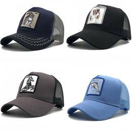 أزياء عارضة قبعة بيسبول للجنسين قابل للتعديل قناع الحيوان التطريز الرياضة قبعة الملابس في الهواء الطلق