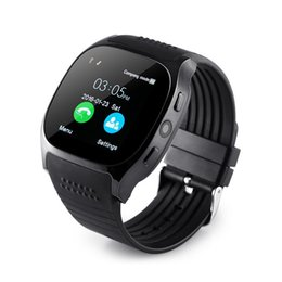 bluetooth smart watch sim Australia - T8 Bluetooth Smart Watch With Camera Facebook Whatsapp Support SIM TF Card Call Smartwatch For Android Phone PK DZ09 Q18
