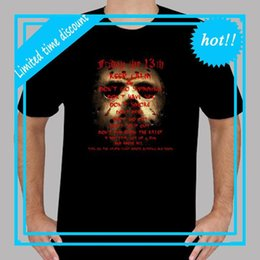 dfd31534e39 New Jason friday The 13th Horror Movie Icon Men s Black T-Shirt Size S to  3XLShort Sleeve Printed O-Neck Tee For Men