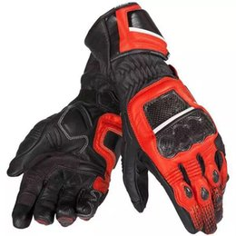 $enCountryForm.capitalKeyWord Australia - Pro Druids ST Carbon Fiber Gloves for Motorcycle Motorbike Off-Road Racing Red White Black