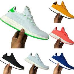 Tennis Shoes Springs Australia - With Box 2019 Pharrell Williams Hu Solar Stretch Knit Braethable Tennis Sneakers Pharrell Williams x Hu Solar Soft Buffer Foam Sports Shoes