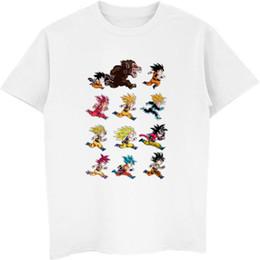 Wholesale diy tee shirts for sale – custom New Dragon Ball Z Goku Super Saiyan T shirt Short Sleeve O Neck Tshirt Summer Saiyan Vegeta Anime Shirt Harajuku Cool Tees Tops