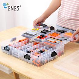 Large Plastic Blocks Australia - Bnbs Building Blocks Lego Toys Large Capacity Hand Kids Storage Case Clear Plastic Organizer Box Can Adjust The Storage Space Q190430