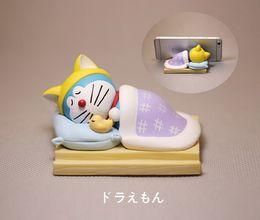 Doraemon Free Gift Australia - Sleeping Doraemon Figure Action Figure tabletop decoration mobile phone support kids toys kids gift ,free shipping