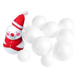 $enCountryForm.capitalKeyWord Australia - 5pcs mix size White Modelling Craft Polystyrene Foam Balls Styrofoam Ornaments DIY Kids Craft Handmade Bouquet Christmas decor