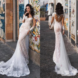 $enCountryForm.capitalKeyWord Australia - Gorgeous Sweetheart Country Wedding Dresses 2019 Sheer Long Sleeve Illusion Back Mermaid Lace Bridal Gowns Wedding Gowns