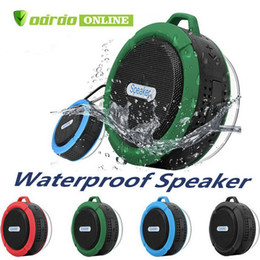 potable speakers Australia - C6 Speaker Bluetooth Speaker Wireless Potable Audio Player Waterproof Speaker Hook And Suction Cup Stereo Music Player new by DHL