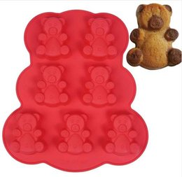 Christmas Baking Molds Australia - 1Pc Seven Bears Shaped Cake Mold Silicone Fondant Mould Chocolate Molds Cake Decoration Tools Pastry Baking Tool Random Color