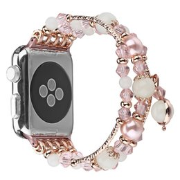 watch band for panerai Canada - Highquality noctilucent agate band for Apple watch 44mm Replacement wrist women's fashion Wrist Strap With Adapters 38MM 42MM 40