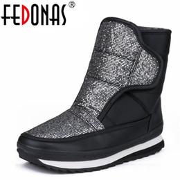 $enCountryForm.capitalKeyWord Australia - FEDONAS 2019 Brand Women's Winter Shoes Warm Platforms Snow Boots Fashion Ladies Casual Shoes Woman Mid Calf High Boots Big Size