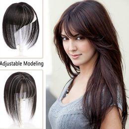 Sara 3D 100% natural del pelo humano Bangs Fringe 360 ° frontal derecho Clip sigilo para no traza la explosión del pelo en la pieza de pelo postizo de extensión 8 * 20cm en venta