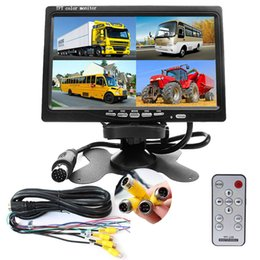 "$enCountryForm.capitalKeyWord Australia - Uvusee DC12V-24V 7"" LCD Monitor 4CH Quad Split Screen 4-Pin Aviation Video input For Car truck Front Rear Side View Camera Surveillance"