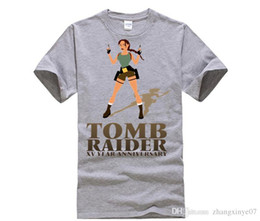 $enCountryForm.capitalKeyWord Australia - Game Tomb Raider XV Anniversary T shirt women Lara Croft Cartoon Printed T-shirt Movie Rise of The Tomb Raider Top Tees